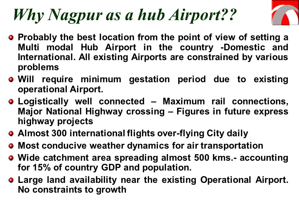 Why Nagpur as a hub Airport
