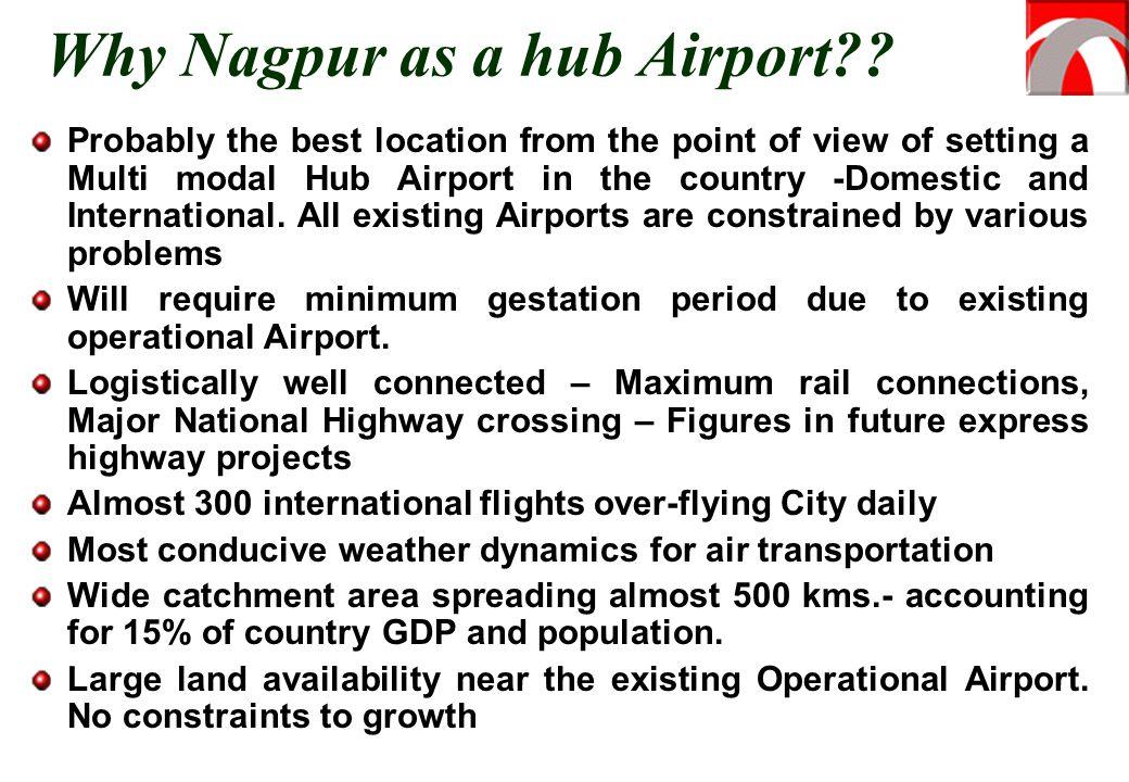 Why Nagpur as a hub Airport