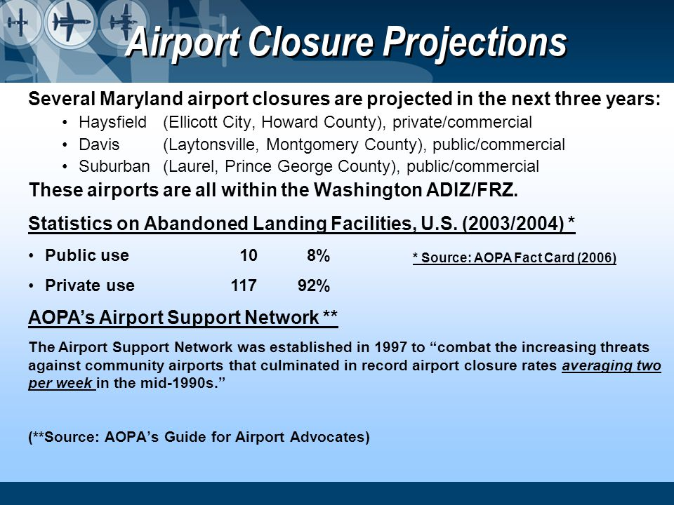 Airport Closure Projections