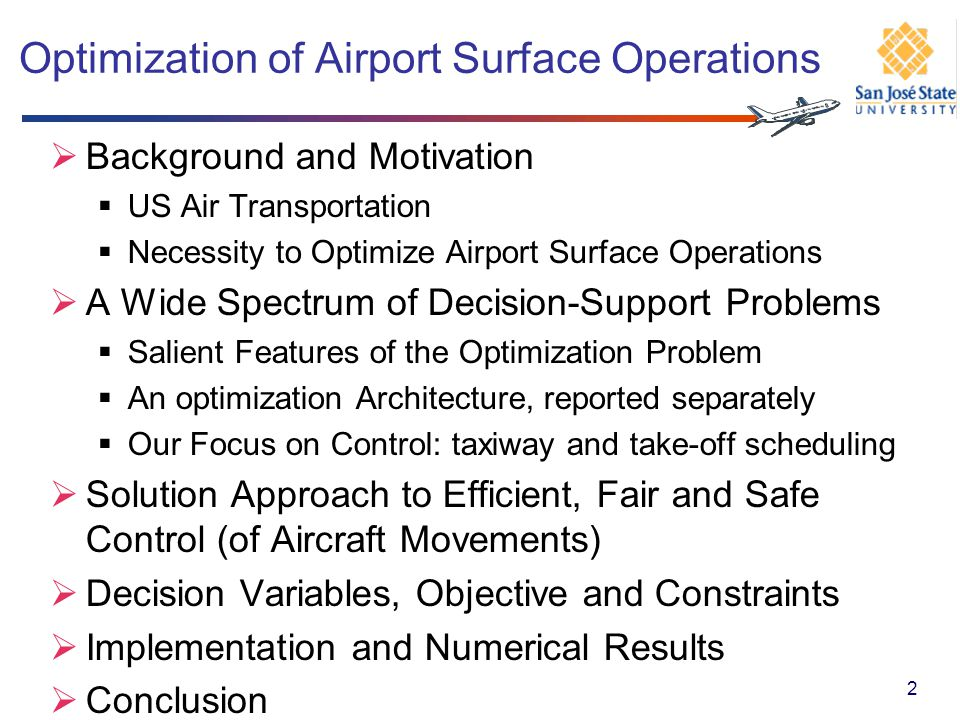 Optimization of Airport Surface Operations