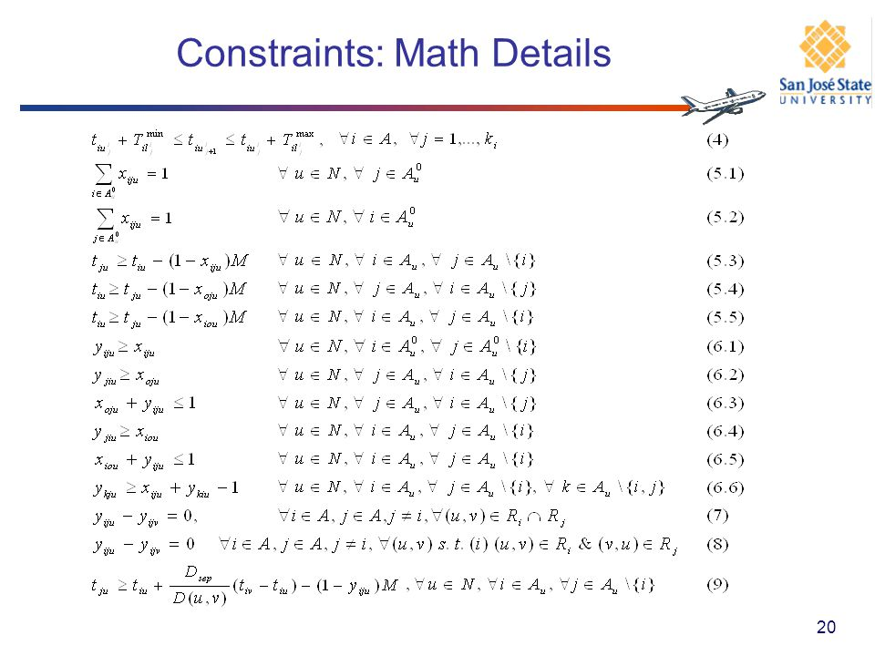 Constraints: Math Details