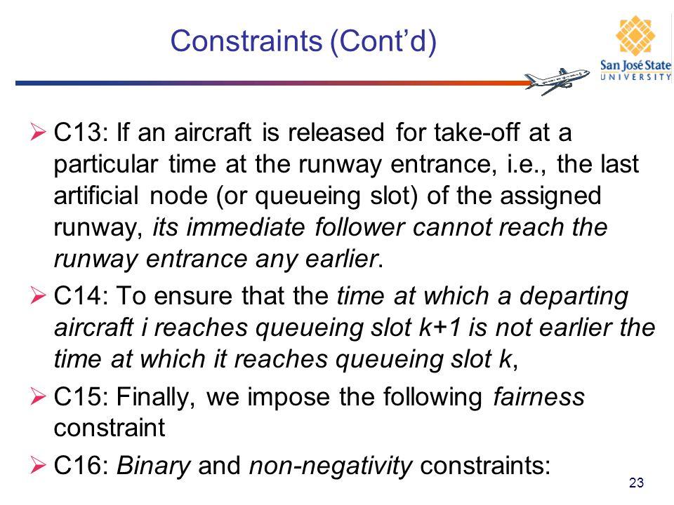 Constraints (Cont'd)