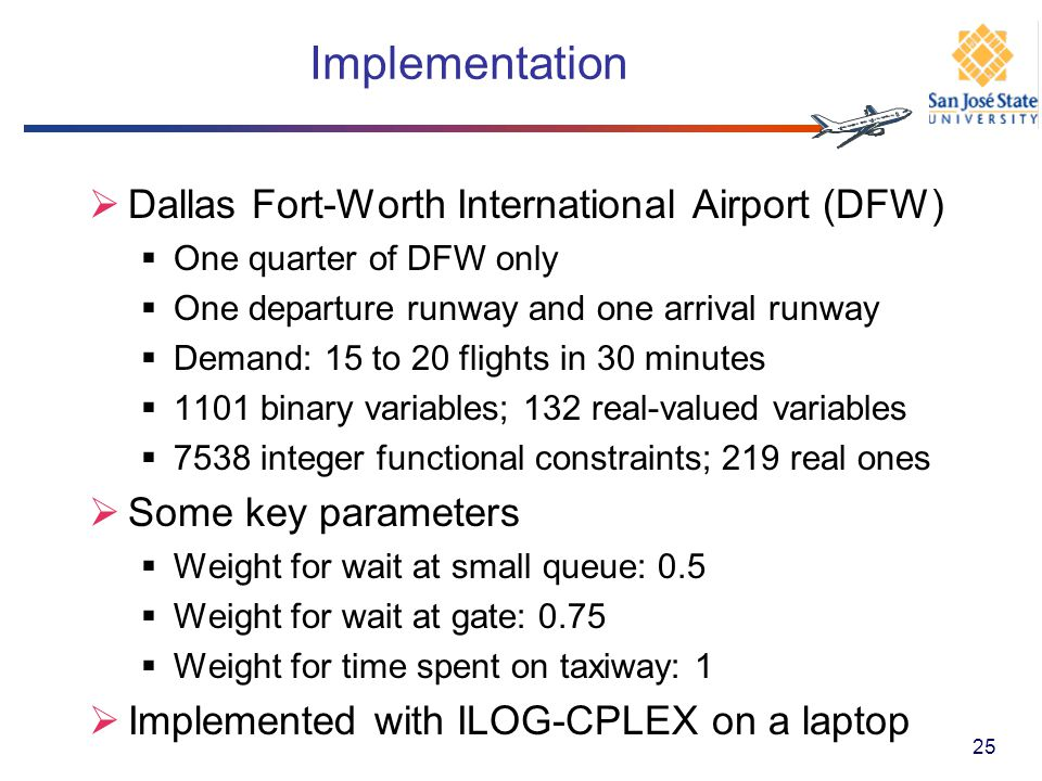 Implementation Dallas Fort-Worth International Airport (DFW)