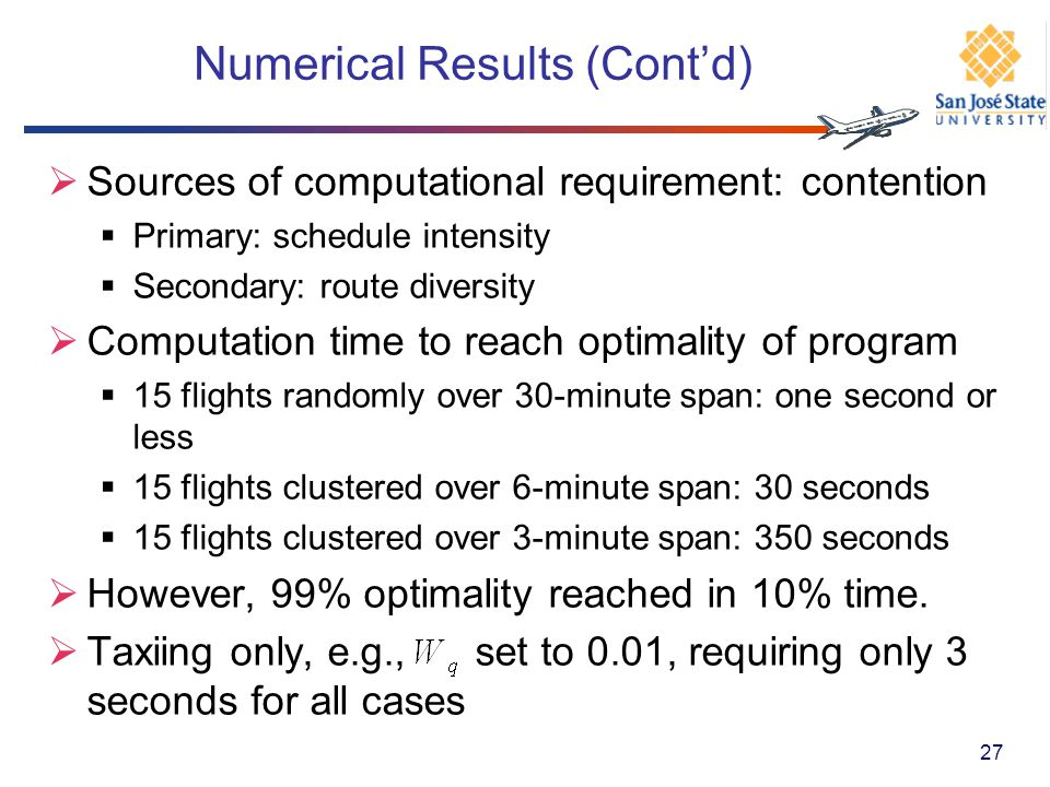 Numerical Results (Cont'd)