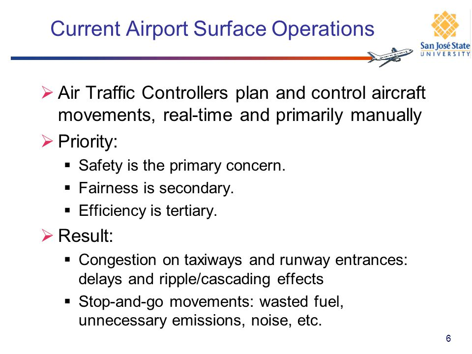 Current Airport Surface Operations