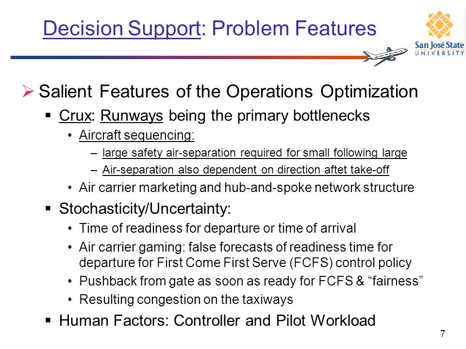 Decision Support: Problem Features