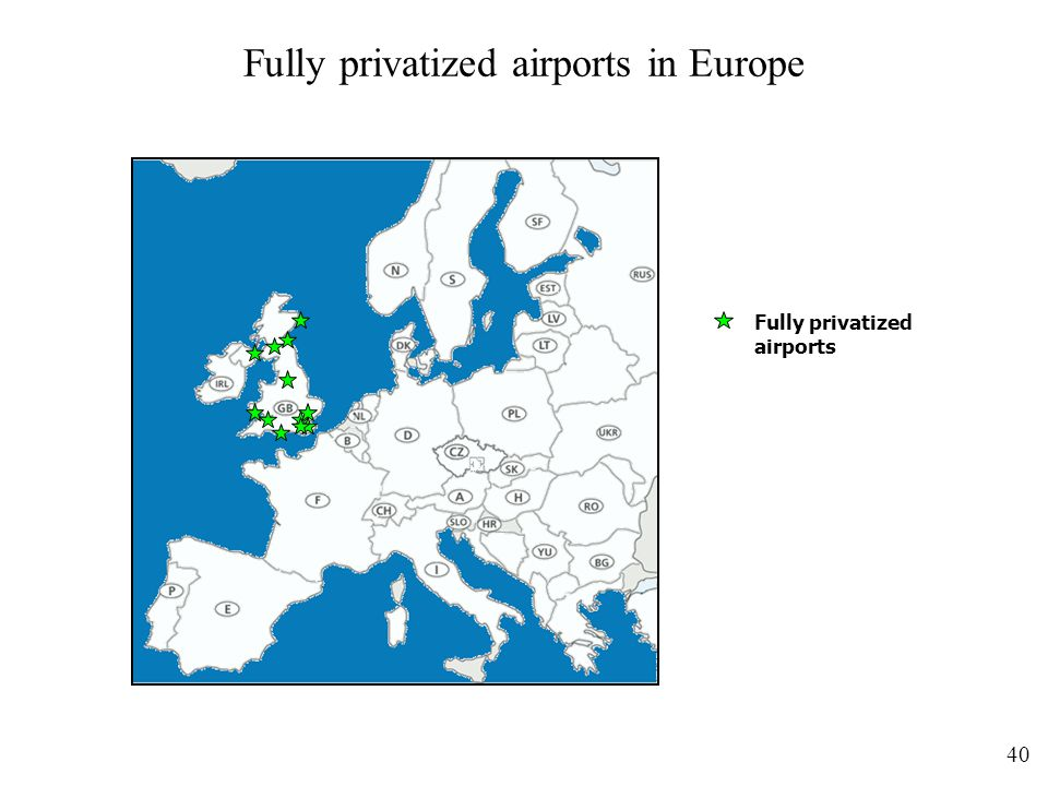 Fully privatized airports in Europe