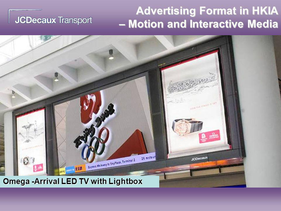 Advertising Format in HKIA – Motion and Interactive Media