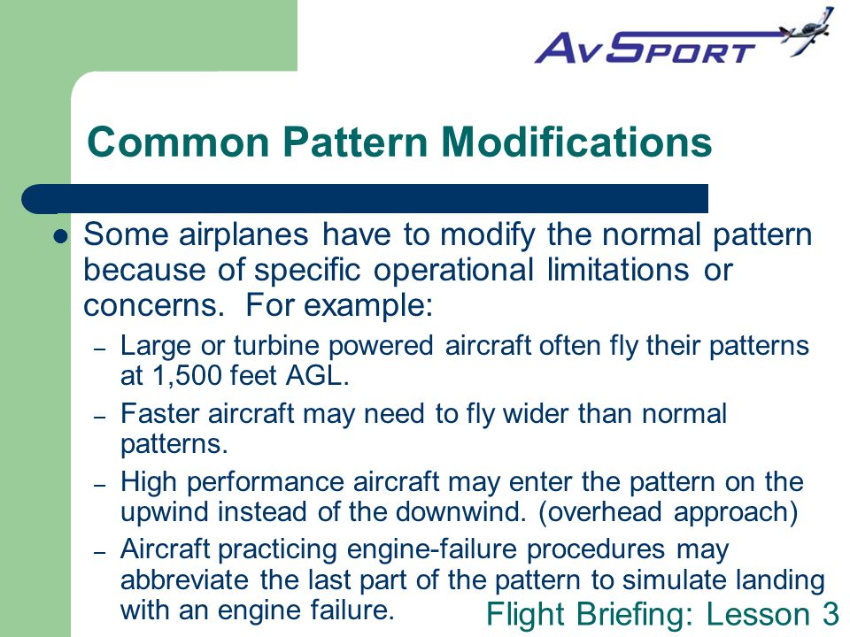 Common Pattern Modifications