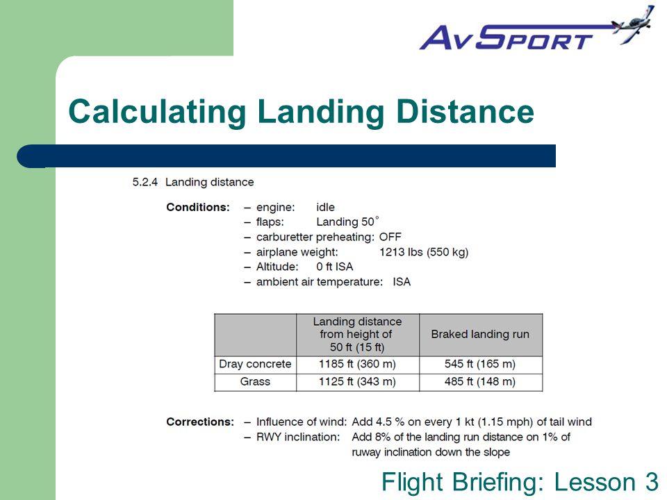 Calculating Landing Distance