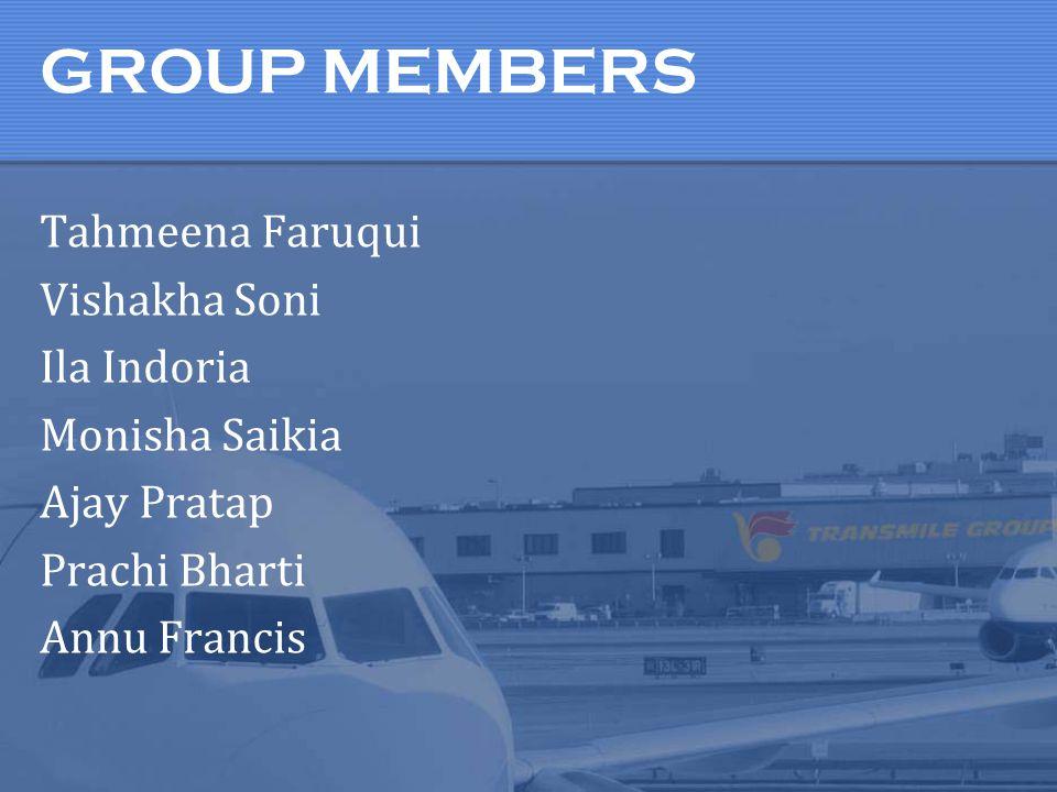 GROUP MEMBERS Tahmeena Faruqui Vishakha Soni Ila Indoria Monisha Saikia Ajay Pratap Prachi Bharti Annu Francis