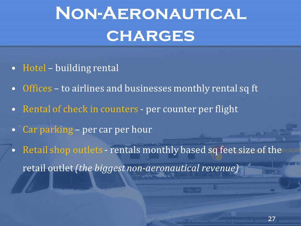 Non-Aeronautical charges