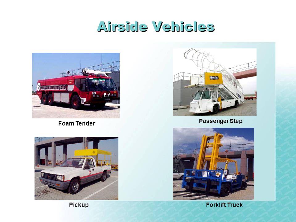 Airside Vehicles Passenger Step Foam Tender Pickup Forklift Truck