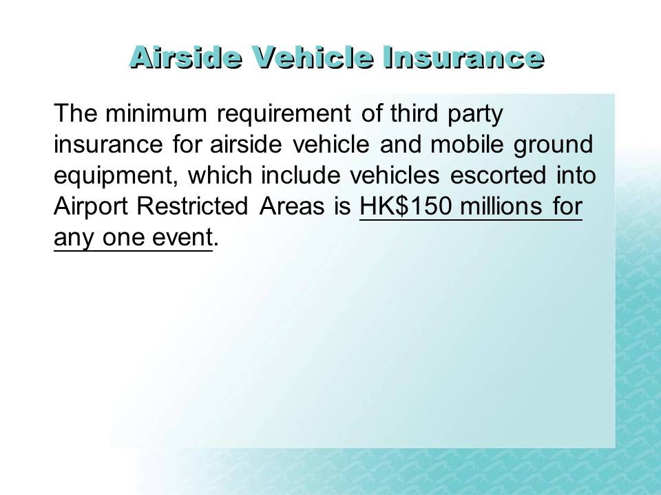 Airside Vehicle Insurance