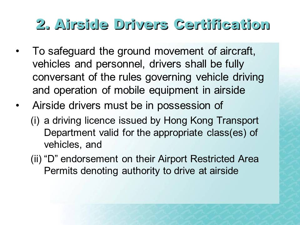 2. Airside Drivers Certification