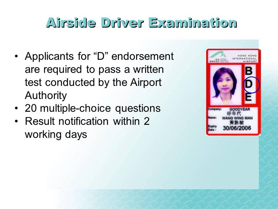 Airside Driver Examination