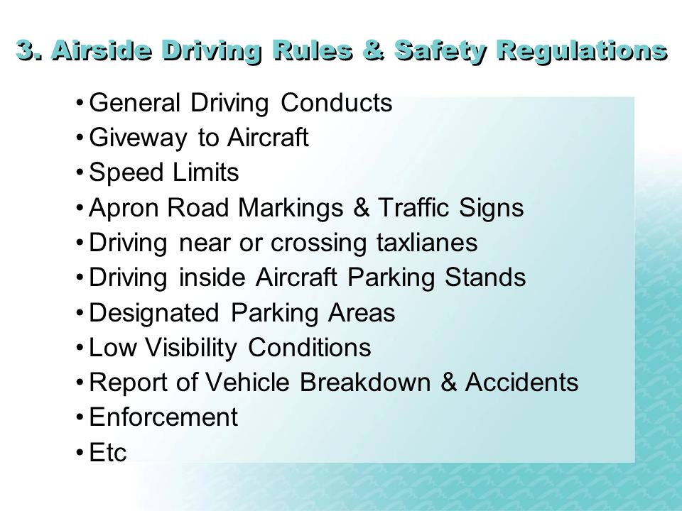3. Airside Driving Rules & Safety Regulations