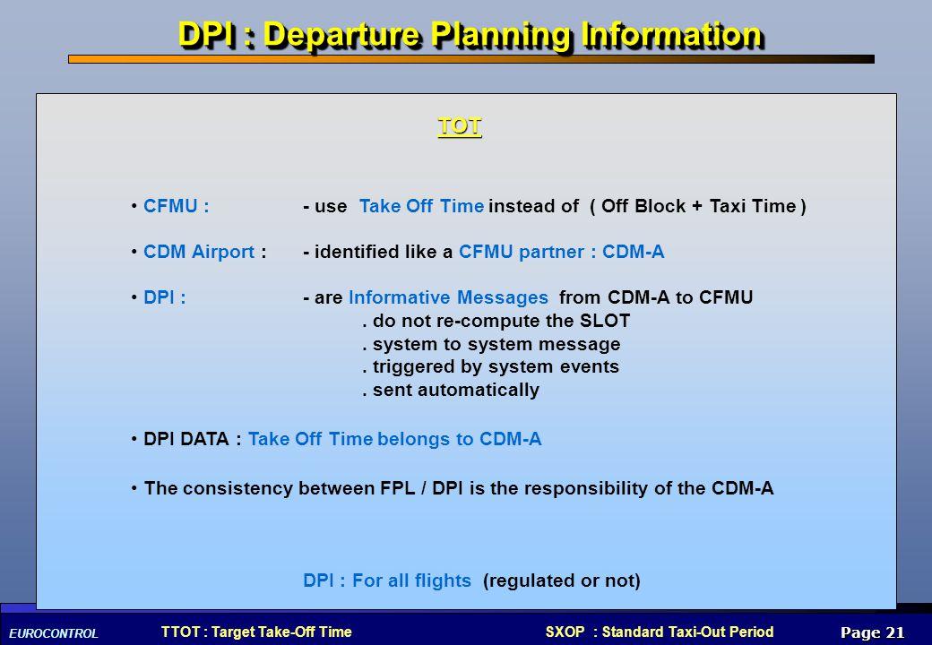 DPI : Departure Planning Information