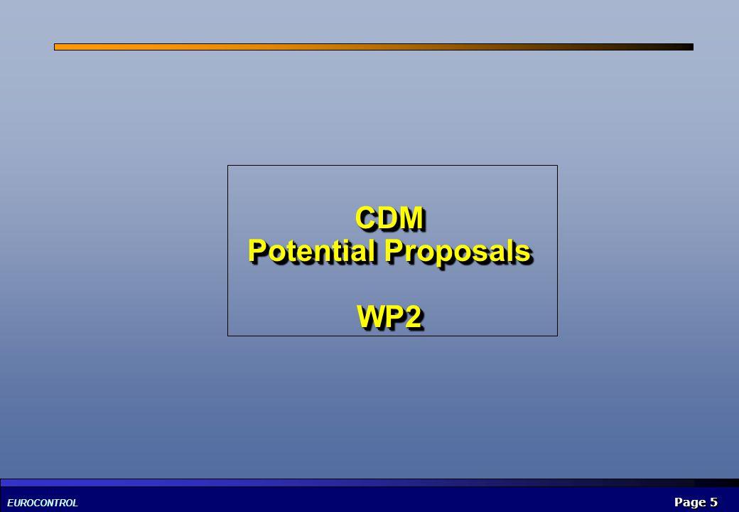 CDM Potential Proposals WP2