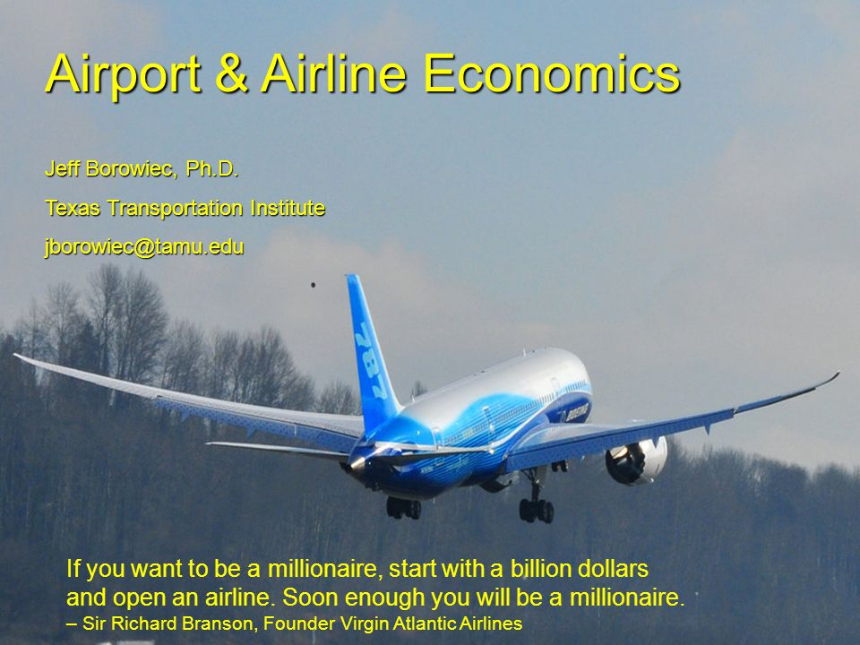Airport & Airline Economics