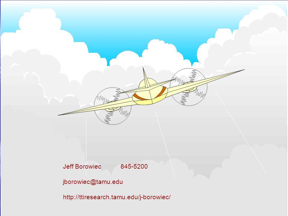 Jeff Borowiec 845-5200 jborowiec@tamu.edu http://ttiresearch.tamu.edu/j-borowiec/