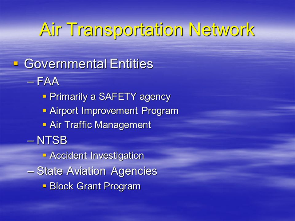 Air Transportation Network