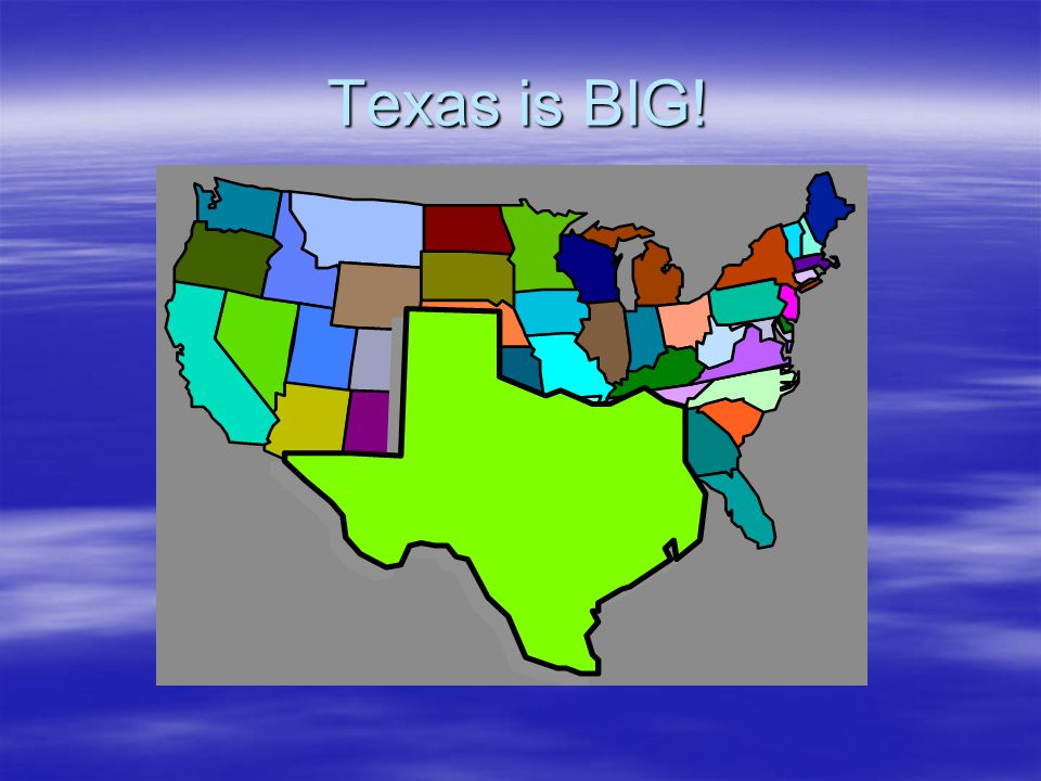 Texas is BIG!