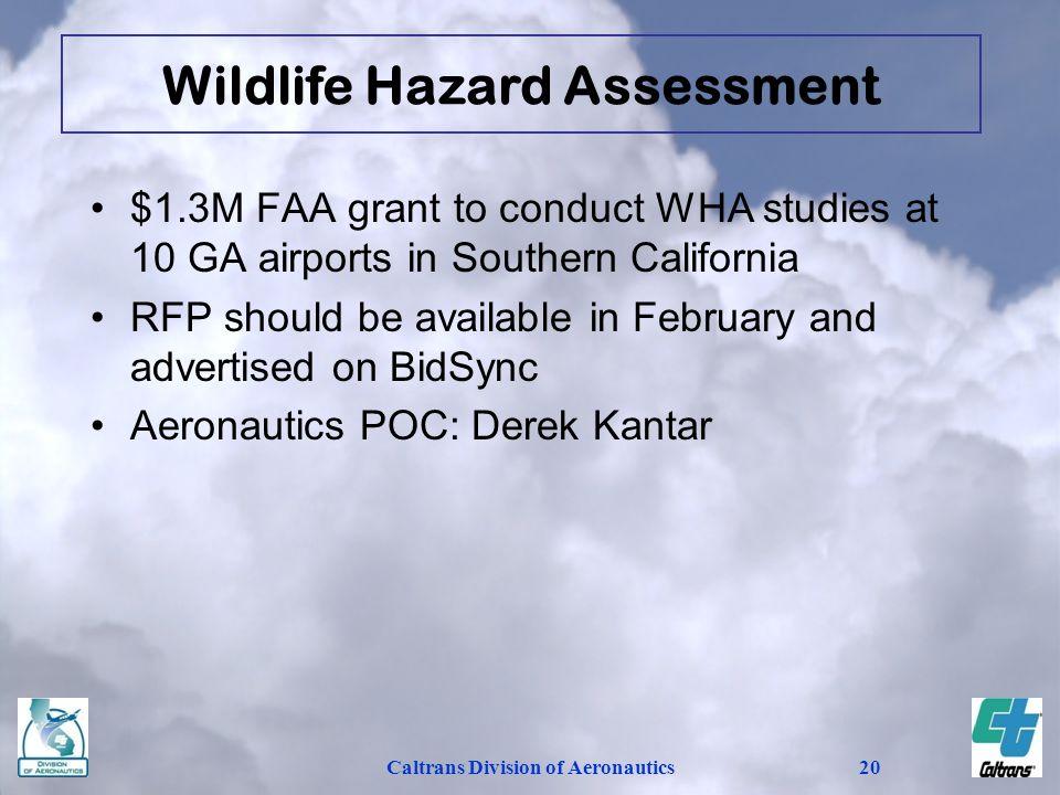Wildlife Hazard Assessment Caltrans Division of Aeronautics
