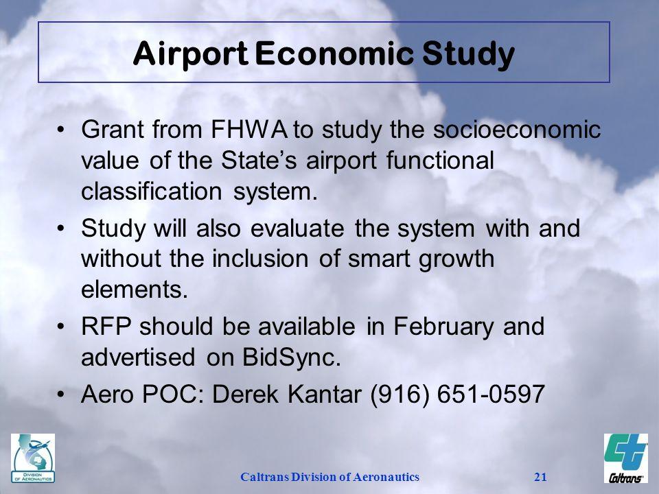 Airport Economic Study Caltrans Division of Aeronautics