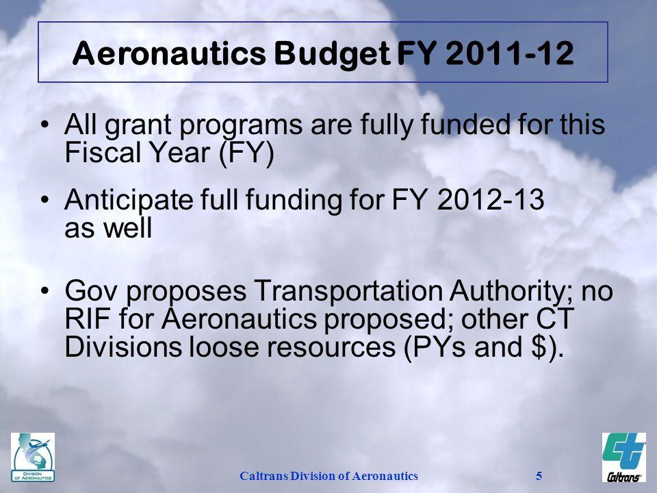 Aeronautics Budget FY 2011-12 Caltrans Division of Aeronautics