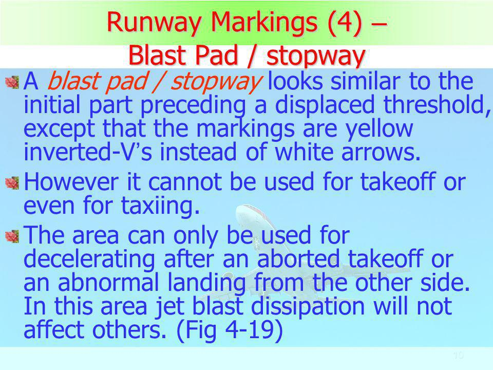 Runway Markings (4) – Blast Pad / stopway