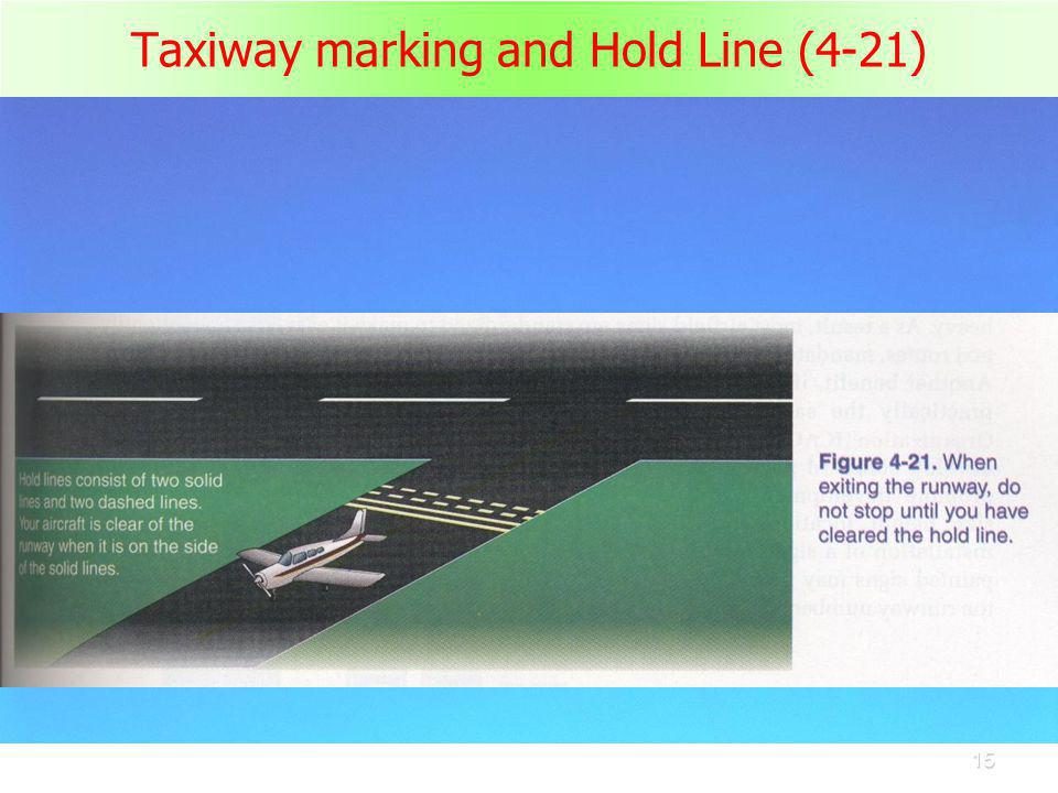 Taxiway marking and Hold Line (4-21)