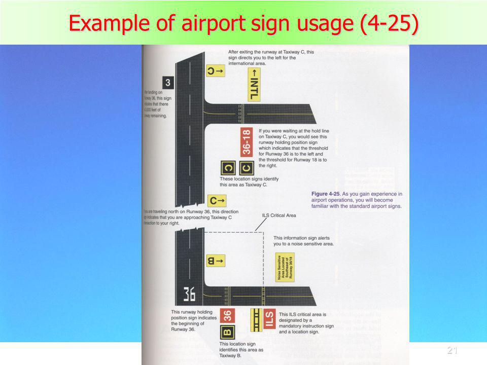 Example of airport sign usage (4-25)