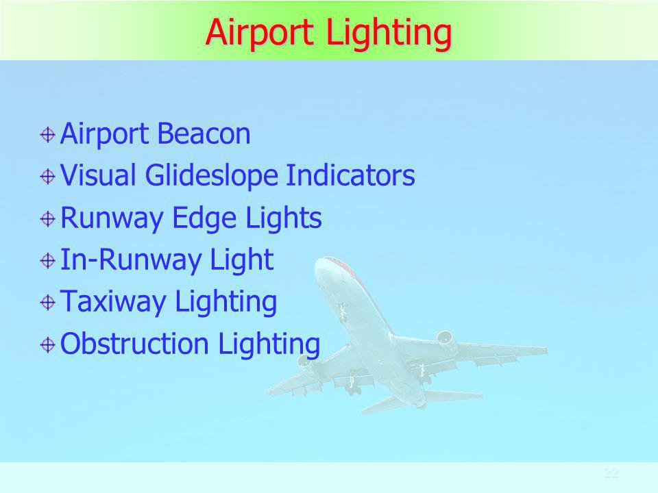 Airport Lighting Airport Beacon Visual Glideslope Indicators