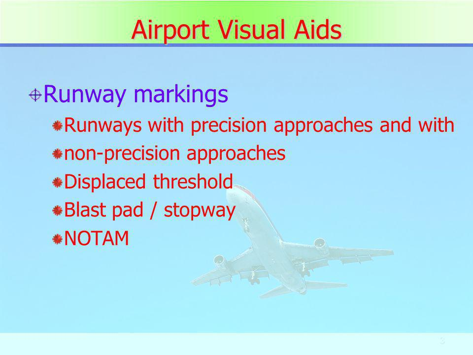 Airport Visual Aids Runway markings