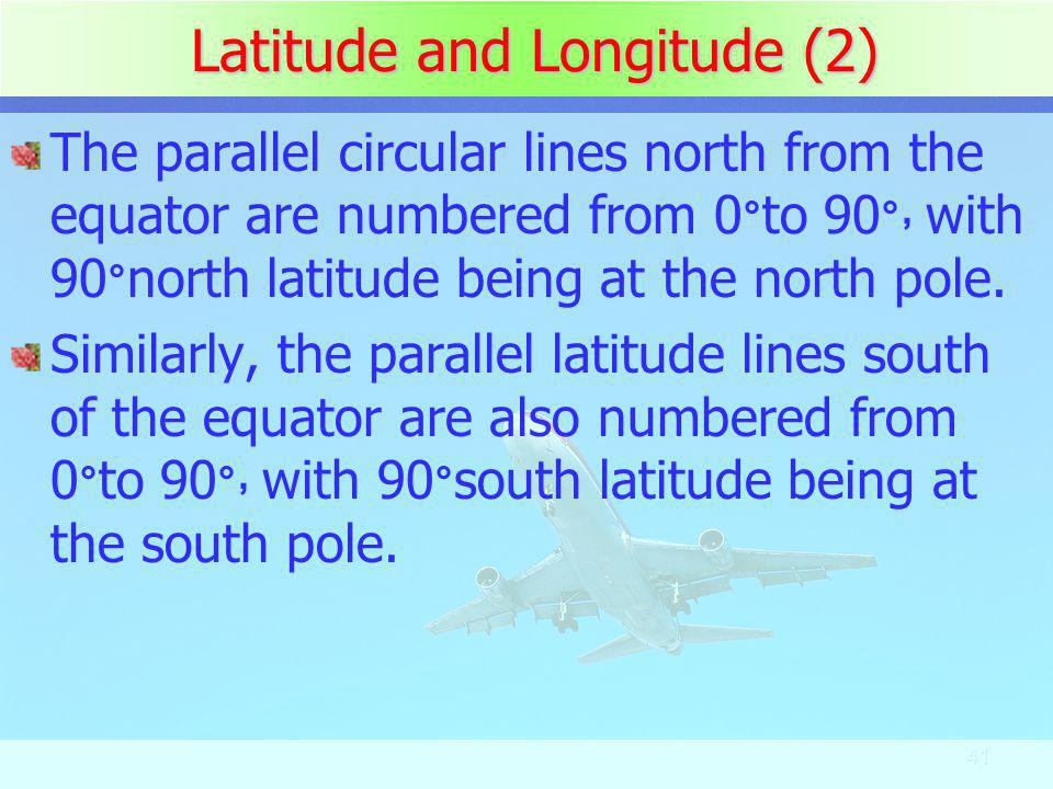 Latitude and Longitude (2)