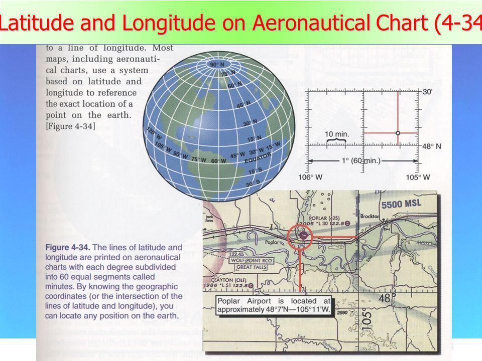 Latitude and Longitude on Aeronautical Chart (4-34)