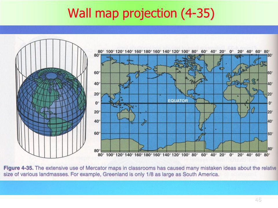 Wall map projection (4-35)