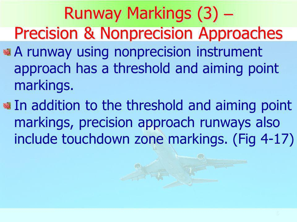 Runway Markings (3) – Precision & Nonprecision Approaches