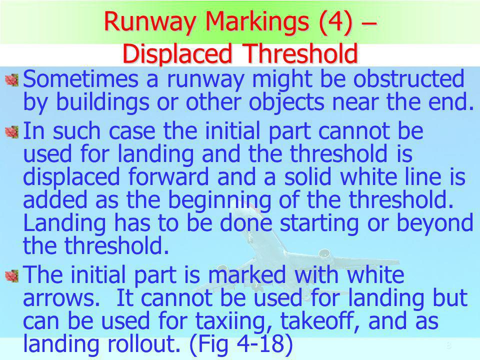 Runway Markings (4) – Displaced Threshold