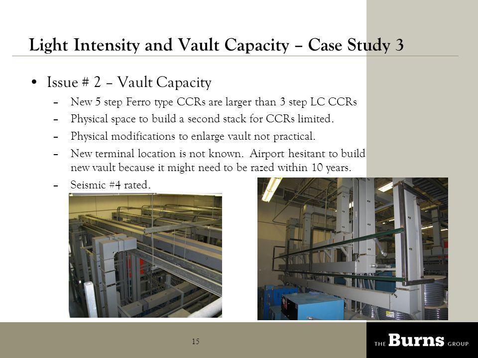 Light Intensity and Vault Capacity – Case Study 3
