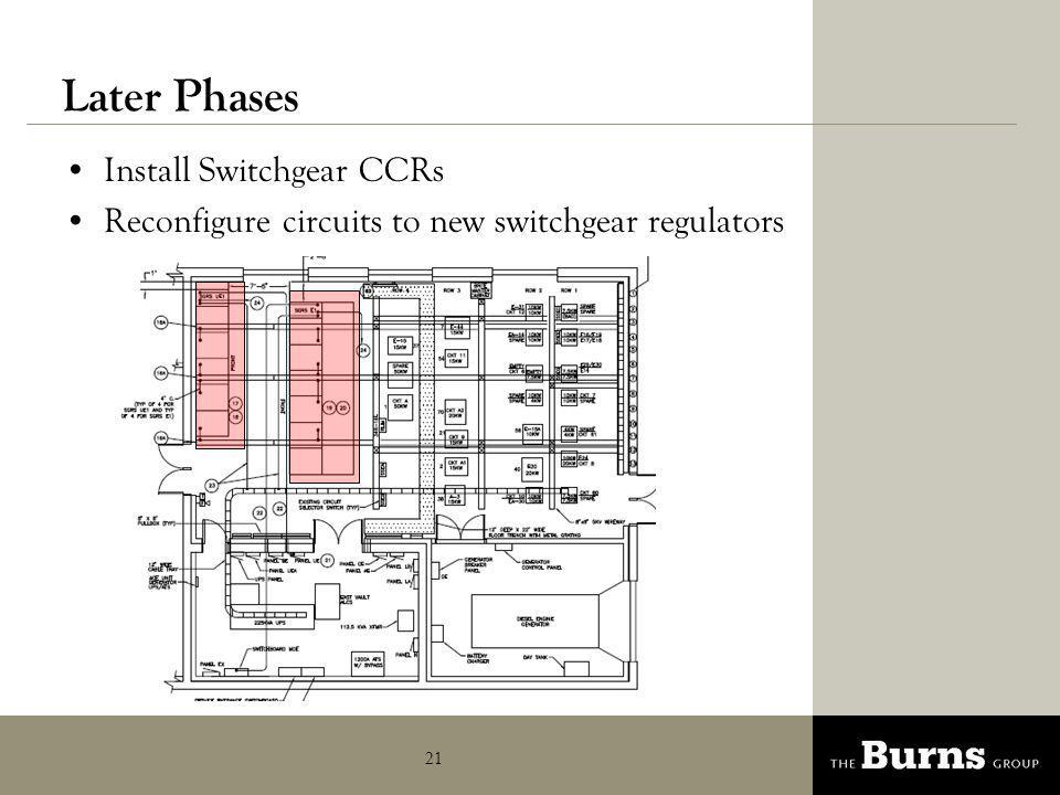 Later Phases Install Switchgear CCRs