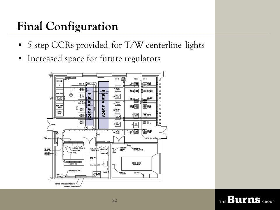 Final Configuration 5 step CCRs provided for T/W centerline lights