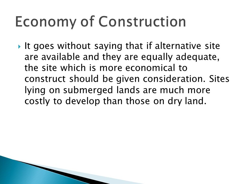 Economy of Construction