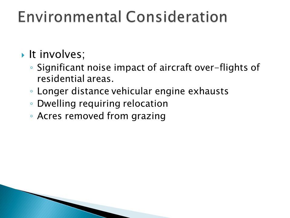 Environmental Consideration