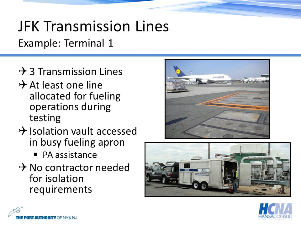 JFK Transmission Lines Example: Terminal 1