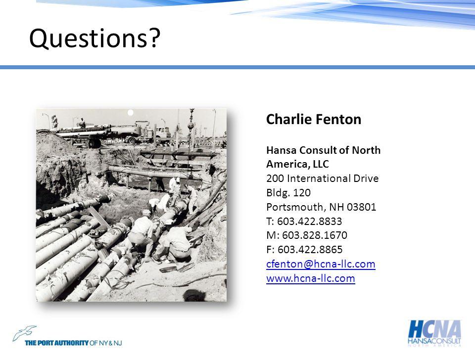 Questions Charlie Fenton Hansa Consult of North America, LLC