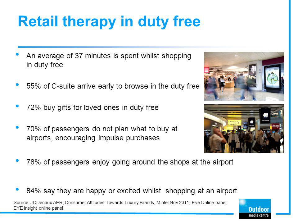 Retail therapy in duty free