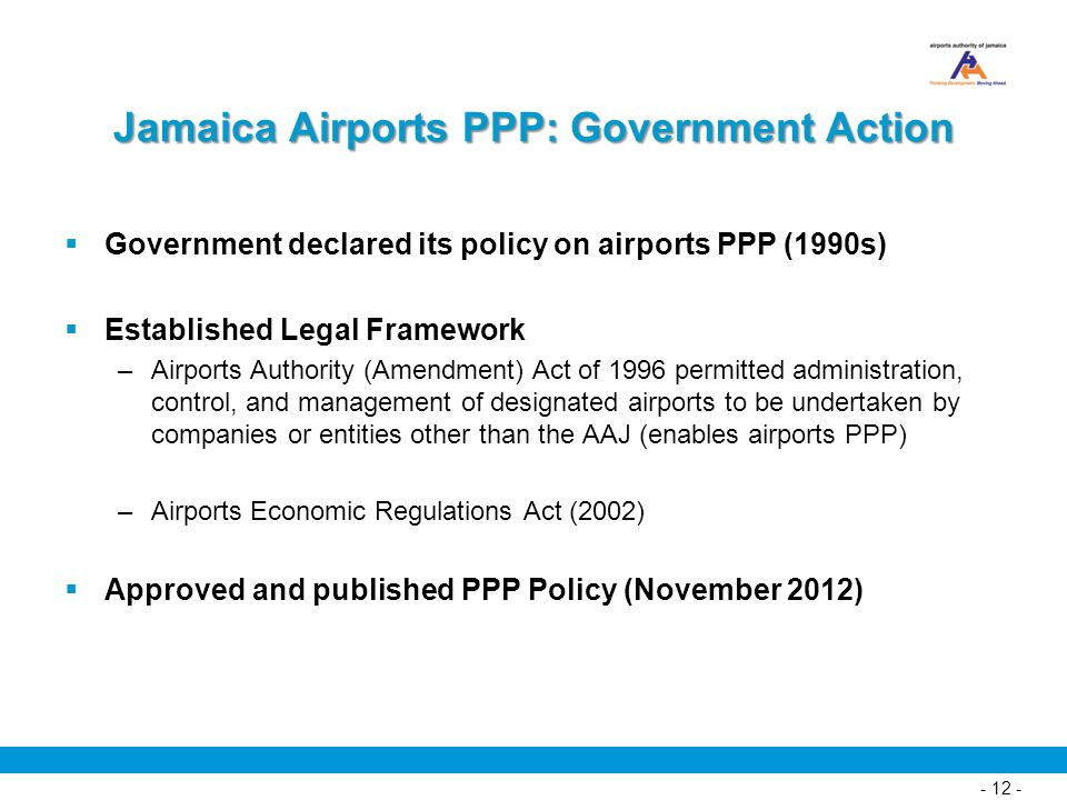 Jamaica Airports PPP: Government Action