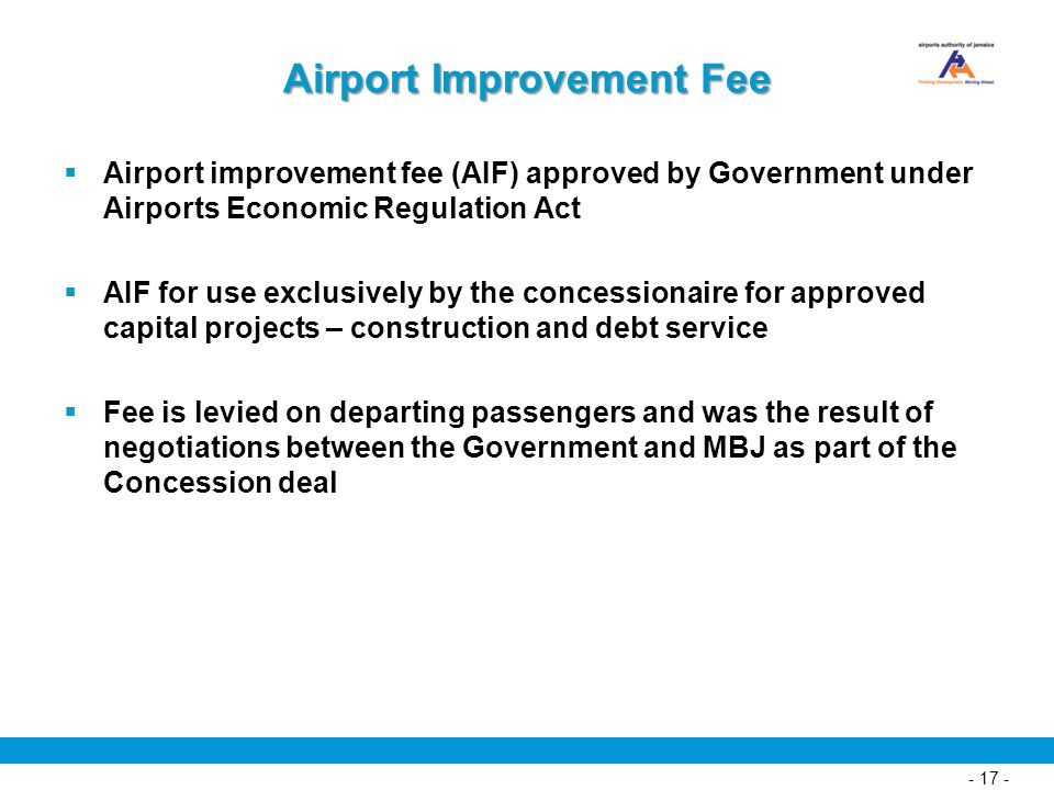 Airport Improvement Fee